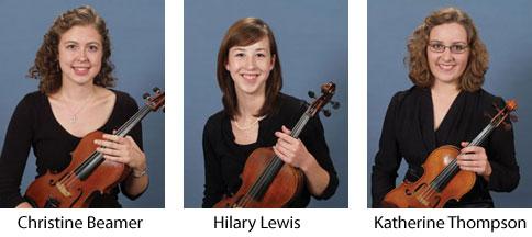 Christine Beamer, Hilary Lewis, Katherine Thompson - SHAR Apprentices