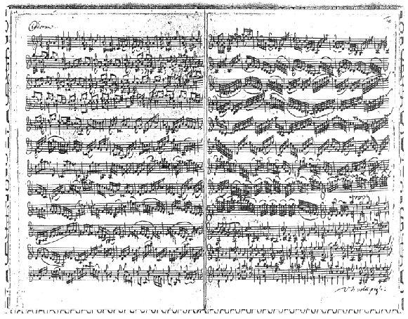 Bach Chaconne original manuscript