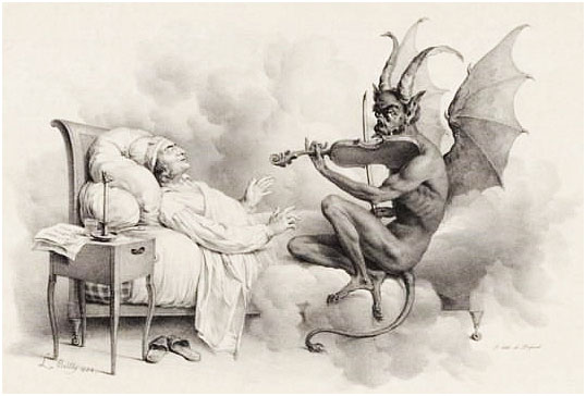 """""""Tartini&squot;s Dream"""" by Louis-Léopold Boilly (1761-1845)"""