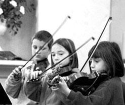 Student violinists