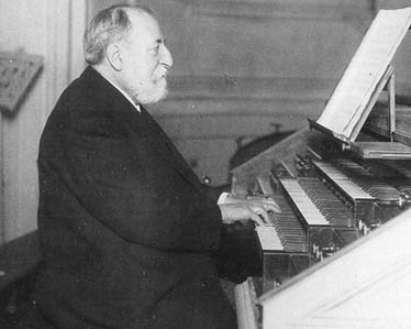 Saint-Saens playing organ