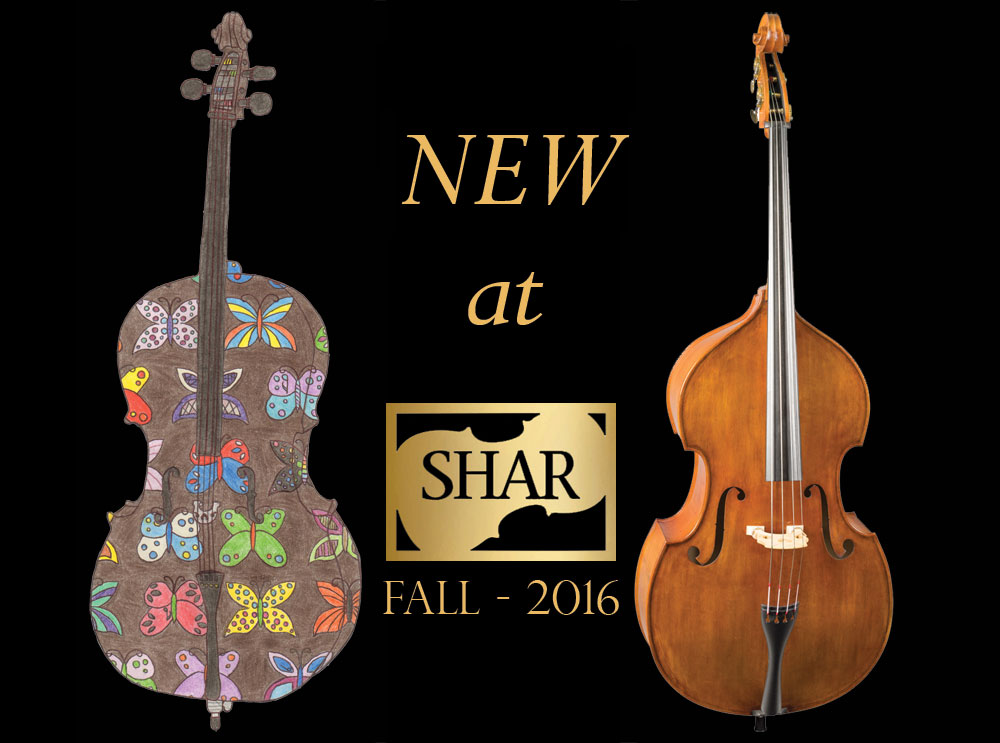 New at SHAR - Fall 2016: Cello and Bass Strings, Electrics, Accessories, and Cases!